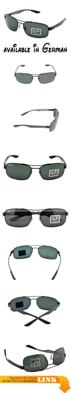 Ray-Ban RB8316 Sonnenbrille, Schwarz (Gestell: Schwarz, Gläser: Grün Klassisch 002), 62 mm