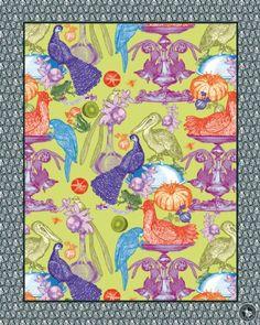 """""""Frammento"""" di wallpaper, come quadri: Birds Multico."""