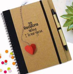 Liebe Notebook mit Herz-Bookmark Liebe Zitate Love von LooveMyArt