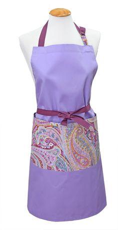 Delantal violeta y cachemir