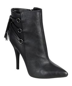 Take a look at this Black Lonestar Ankle Boot by Bamboo on #zulily today!