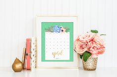 Printable Calendars for a More Floral 2017