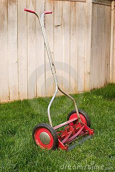 My dad was old school. I started mowing lawns with a push mower like this.