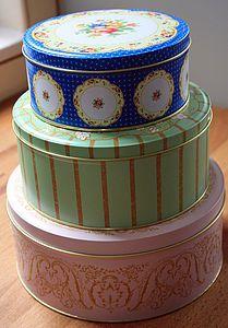 Set Of Three Storage Tins - cake stands