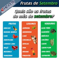 Saiba quais são os alimentos do mês de Setembro. Aproveite a melhor qualidade, com os produtos mais frescos e saborosos. Acompanhe com a gente mês a mês a sazonalidade dos alimentos. #VidaSaudavel #KikosFitness #Foco #AlimentaçãoSaudavel