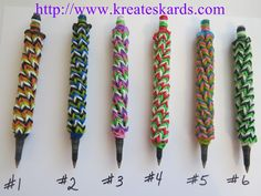 Rainbow Loom Pen Covers