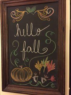 Krijtborden Hello fall chalkboard What Foods Can Trigger Bed Wetting? Fall Chalkboard Art, Thanksgiving Chalkboard, Chalkboard Pictures, Chalkboard Doodles, Chalkboard Art Quotes, Blackboard Art, Chalkboard Drawings, Chalkboard Lettering, Chalkboard Designs