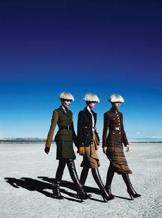 Meghan Collison, Magda Laguinge, Zuzanna Bijoch | Patrick Demarchelier #photography | W Magazine August 2012