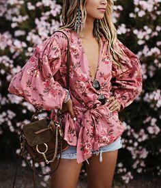 "JULIE SARIÑANA (@sincerelyjules) on Instagram: ""Pretty in pink. • wearing @loversfriendsla top from @revolve #revolvefestival"""