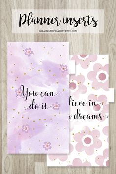 Printable planner dividers in five versions with tabs and front and back! #plannerdividers #plannertabs