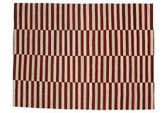 "6'11"" x 9'2"" Kilim, Burgundy/Ivory on OneKingsLane.com  7' x 9' wool  $769"
