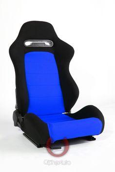 CPA1013 Black & Blue Insert Cloth Cipher Auto Racing Seats - Pair