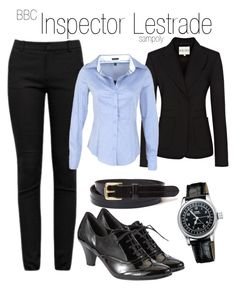 Inspector Lestrade by sampoly on Polyvore featuring polyvore, fashion, style, Reiss, Helmut Lang, Gabor, Oris, Surface To Air, women's clothing, women's fashion, women, female, woman, misses, juniors and lestrade sherlock