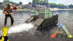 ARK: MOTORBOAT BUILD & HARPOON GUN PATCH 258 Ark Ps4, Ark Survival Evolved Bases, Game Ark, Motorboat, Boats, Gun, Video Games, Geek Stuff, Building