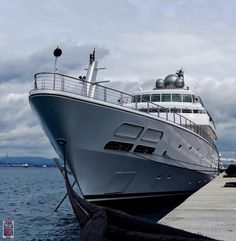"""The other @luerssenyachts in the new marina today - """"RISING SUN"""" by superyachts_gibraltar"""