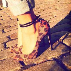Aquazzura Leopard Print Heels | Spotted on @marieclairemag