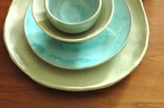 dinner plates and bowls from my last kiln firing