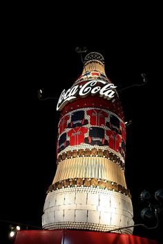 Atlanta Braves - this was an amazing site in person.  It was replaced with the current ' video board' Coke bottle in 2011.