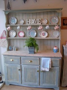 Add Hooks For My Tea Cups Instead Of Stacking Them Shabby Chic Welsh Dresser