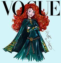 Disney Divas for Vogue by Hayden Williams: Merida. Disney Princess. Fashion . Fan art. Princesses. Beautiful. Girl. Sexy. Royalty. Diva.