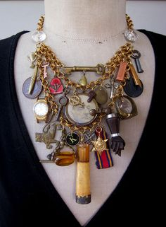 Steampunk Jewelry Bib Statement  Necklace Steampunk by rebecca3030.etsy.com