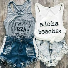 New Summer Camping Outfits Casual Shirts 67 Ideas Summer Camping Outfits, Diy Summer Clothes, Cute Summer Outfits, Cute Casual Outfits, Spring Outfits, Casual Shirts, Teen Fashion, Fashion Outfits, Best Friend Outfits
