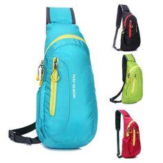4 Colors Unisex Nylon Waterproof Chest Bags Outdoor Sport Hiking Runni. | wonderfestgifts.com