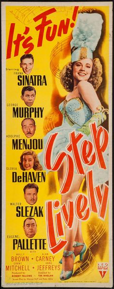 "Movie Posters:Musical, Step Lively (RKO, 1944). Insert (14"" X 36""). Musical.. ... Image #1"
