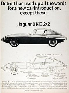 Jaguar XK-E 2-2 1966 Detroit Car Introduction