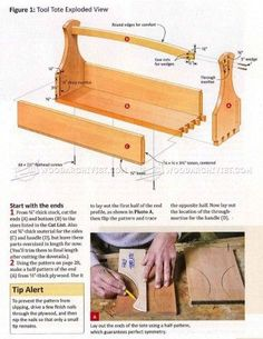 #533 Tool Tote Plans - Workshop Solutions Plans, Tips and Tricks