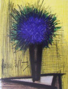 Bernard Buffet - Le bouquet violet