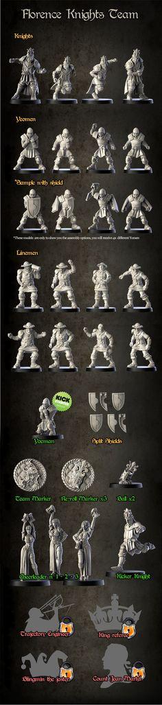FANTASY FOOTBALL - Florence's Knights: Bretonans and Humans by Greebo Games —Kickstarter