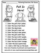 This is a great following directions worksheet. Kids can