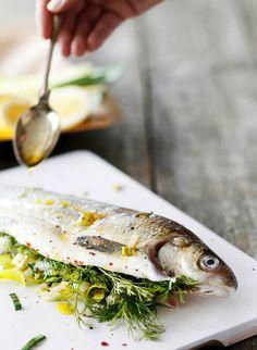 Stuffed whitefish. Food  style Kati Pohja, photo Joonas Vuorinen. Kotivinkki magazine 6/2014