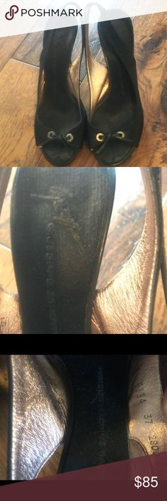 Giuseppe Zanotti slingback peep toe satin heels Classy and gorgeous black peep toe slingbacks.  Satin fabrication. Giuseppe Zanotti Shoes Heels