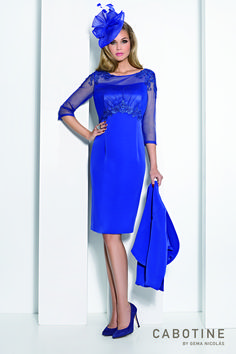 A striking blue outfit by Cabotine, perfect for a trendy mother of the bride, mother of the groom or wedding guest! Frox of Falkirk, fashion.