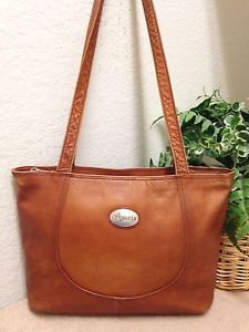 b4bb22e246d1 American Angel Brown Distressed Colombian Pebble Leather Shoulder Handbag  Bag GC