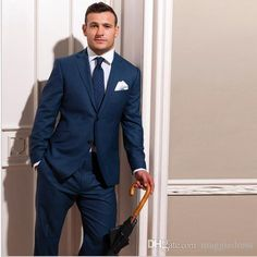 New Custom Made To Measure Blue Groom Wedding Suits For Men Bespoke Men Suit Tailored Tuxedos For Men Blue Slim Fit Wool Suits Prom Suit For Men Rental Tuxedos For Prom From Maggiedress, $87.89| Dhgate.Com