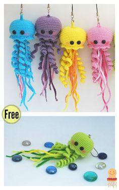 Mesmerizing Crochet an Amigurumi Rabbit Ideas. Lovely Crochet an Amigurumi Rabbit Ideas. Crochet Fish, Crochet Octopus, Cute Crochet, Crochet For Kids, Crochet Crafts, Crochet Projects, Crochet Ideas, Crochet Keychain Pattern, Crochet Amigurumi Free Patterns