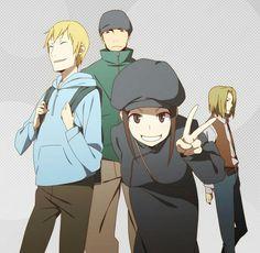 Durarara - Erika, Kyouhei, Walker, Togusa