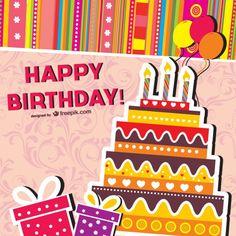 torta cumpleaños vector png - Buscar con Google