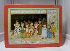 Mary Engelbreit Christmas Tin - The Christmas Pageant. $8.50, via Etsy.