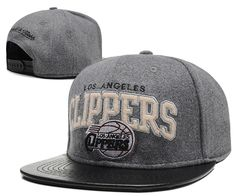 NBA Los Angeles Clippers Grey Red Snapback Hats--sd