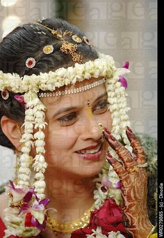 maharashtrian    Caption: Maharashtrian bride wearing gold jewellery in Indian Hindu ...