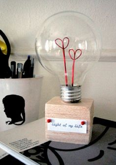 Light of my life valentine idea
