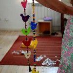 Декорация от филц  и мъниста за детска стая