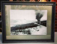 This vintage photo of an old Colorado railroad looks stunning in the @Larson-Juhl  Devon line. Custom framed by FastFrame of LoDo. #art #framing #denver #colorado #vintage