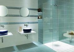 Fox Azul - Create a futuristic bathroom with these metallic effect ceramic tiles