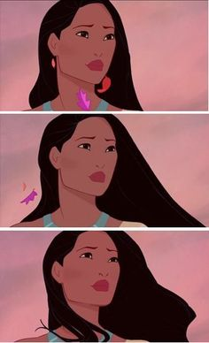 Look at the brave face she puts up-Pocahontas is saying goodbye to the only… Disney Pixar, Walt Disney, Disney And Dreamworks, Disney Girls, Disney Love, Disney Magic, Princess Pocahontas, Disney Pocahontas, Pocahontas Quotes
