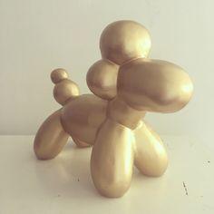 Golden poodle. visual merchandise item Bijenkorf warehouse